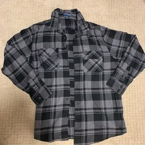 XL black and grey Diesel Pro flannel